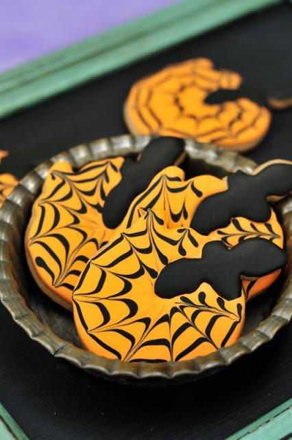 Bat Pumpkin Cookies