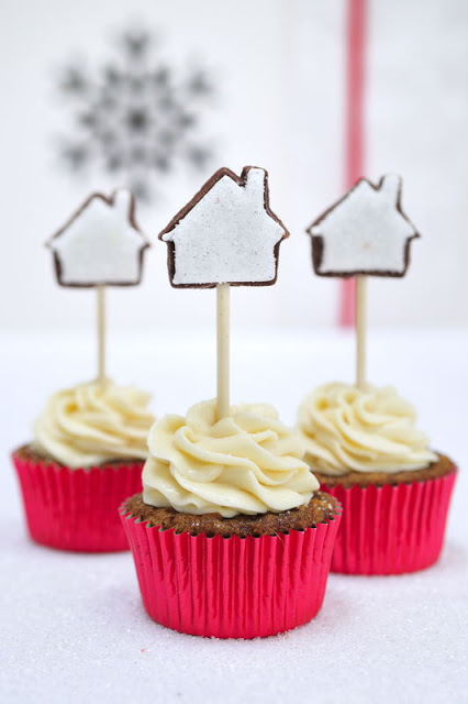 Sparkling  Holiday Cupcake Cookie Toppers
