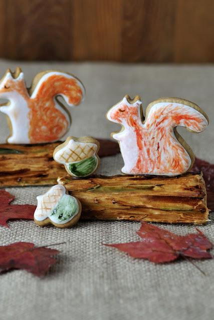 Foraging Squirrel Cookie Centerpiece