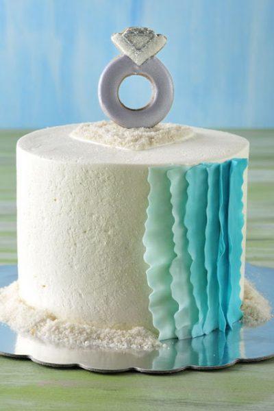 Red Velvet Engagement Cake