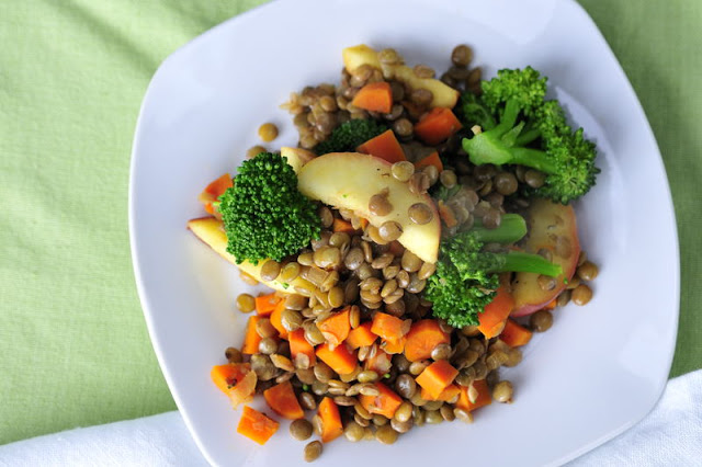 Curried Lentils and Broccoli