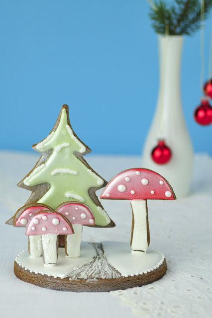 Gingerbread Mushroom Centerpiece