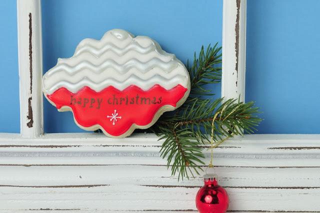 Chevron Christmas Cookie Card