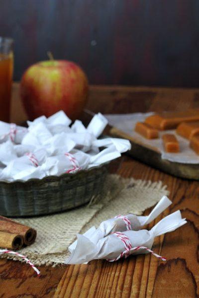 Soft Apple Cider Caramels