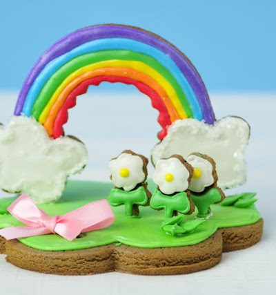 Rainbow Centerpiece  and  a Virtual Baby Shower for Meaghan of The Decorated Cookie