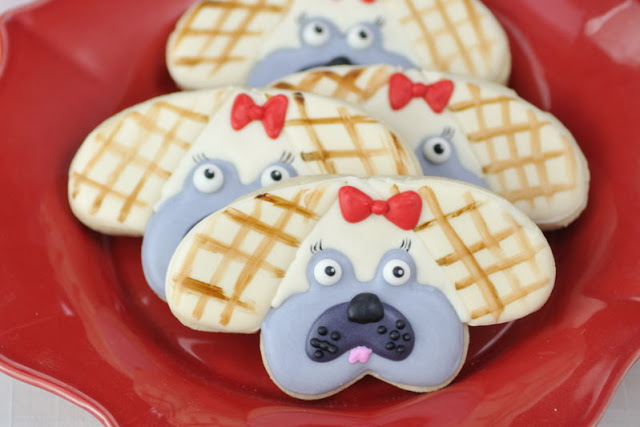 For the Love of Pug Cookies