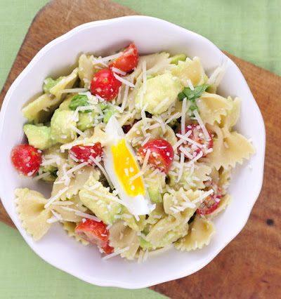 Avocado Tomato  Basil Pasta