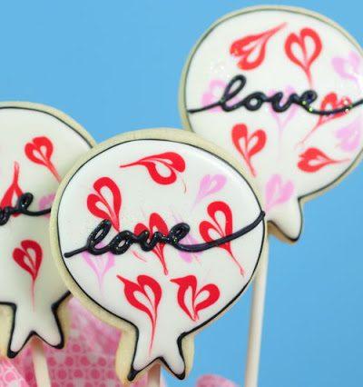 Easy Valentine's Day Balloon Cookies