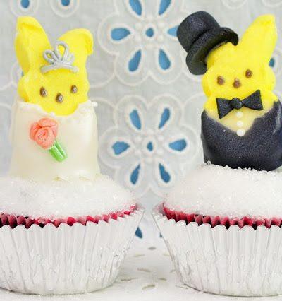 Marshmallow Peeps Get Married