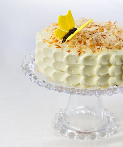 Coconut Cake with Roasted Coconut