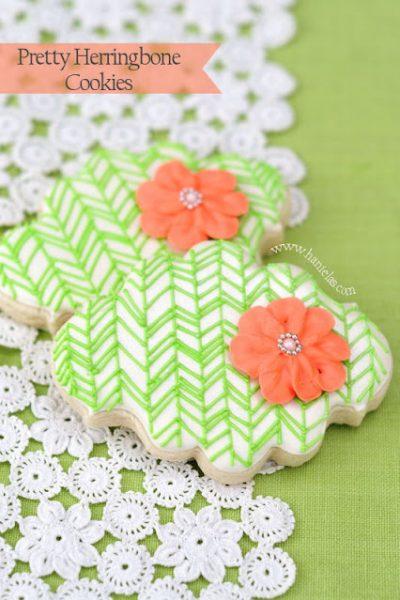 Pretty Herringbone Cookies
