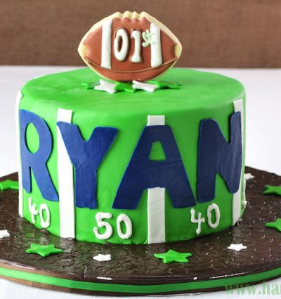 Lil' Quarterback 1st Birthday Cake