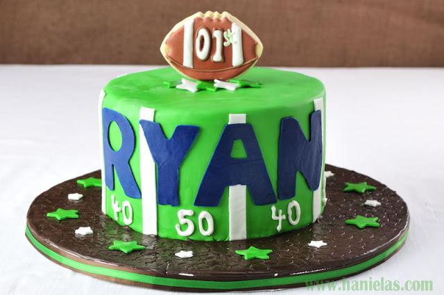 Lil' Quarterback 1st Birthday Cake