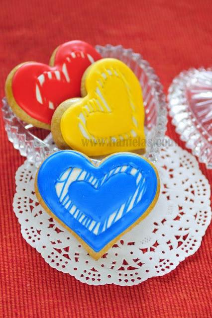 Modern Heart Cookies