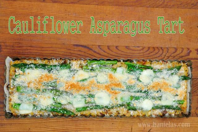 Cauliflower Asparagus Tart