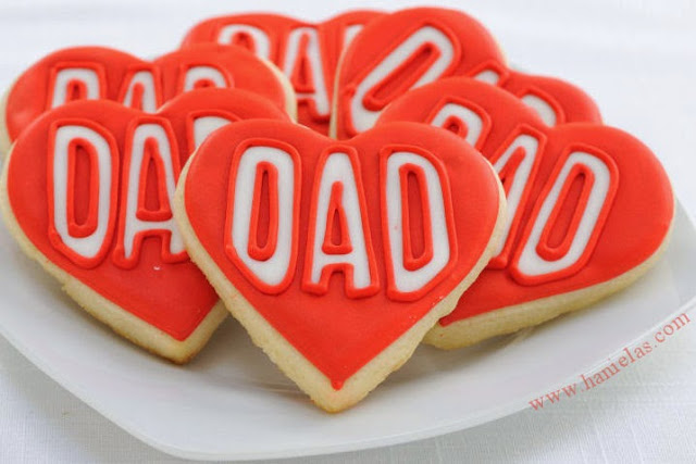 Heart Father's Day Cookies