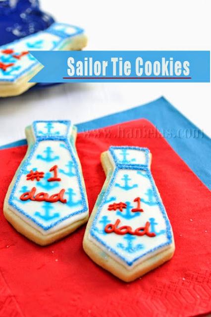 Sailor and Herringbone Tie Cookies