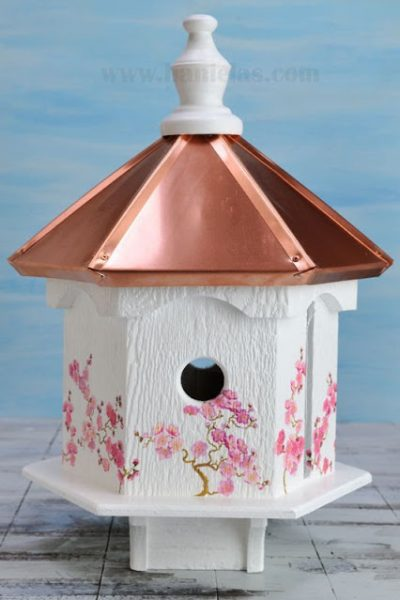 Cherry Tree Birdhouse, Napkin Decoupage Video Tutorial