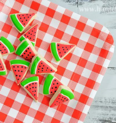 Easy Mini Watermelon Cookies