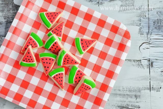 Easy Mini Watermelon Cookies