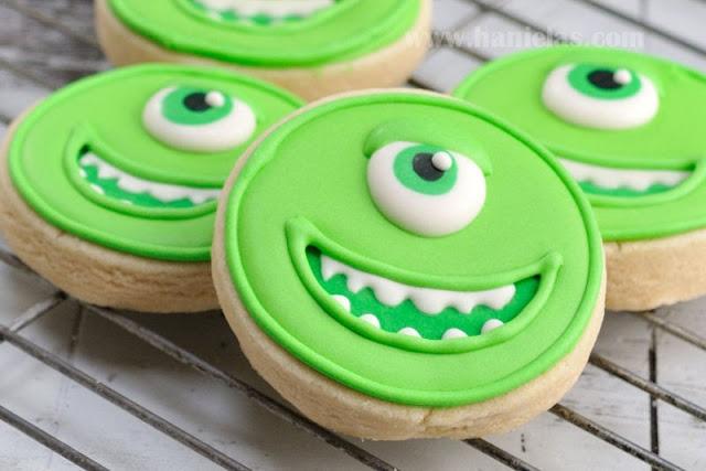 Simple Monsters University Cookies, Mike Wazovski