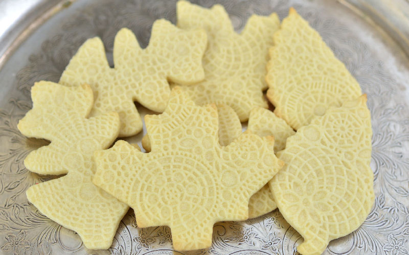 sugar cookies, lace cookies, impression mat