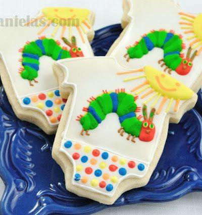 The Very Hungry Caterpillar Baby Onesie Cookies