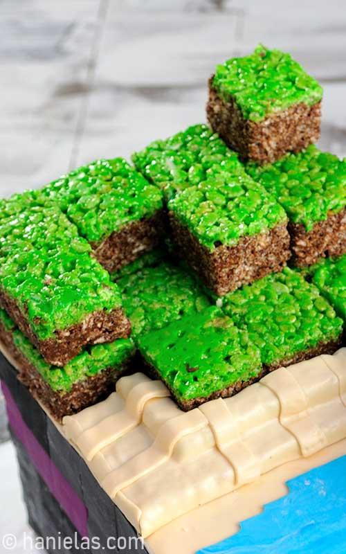 Minecraft Rice Krispie Treats