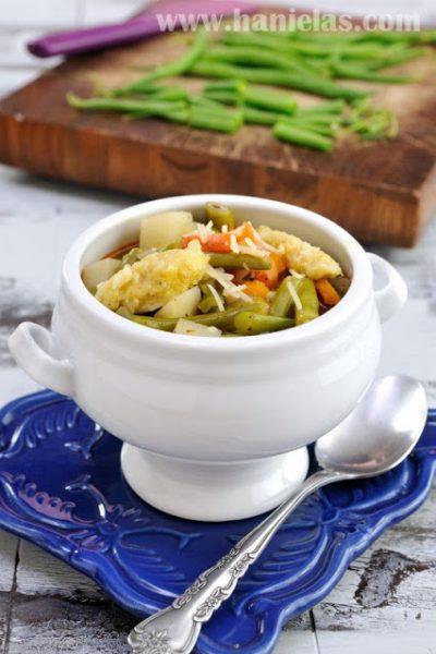 Green Bean Soup with Parmesan Dumplings