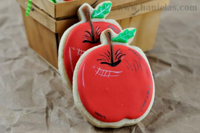 Painted Apple Cookies