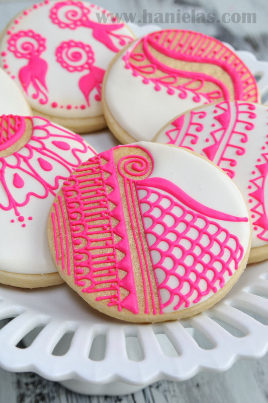 Henna Cookies Pattern Templates Haniela S Recipes Cookie