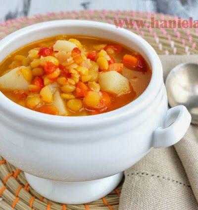 Roasted Pepper Split Pea Soup
