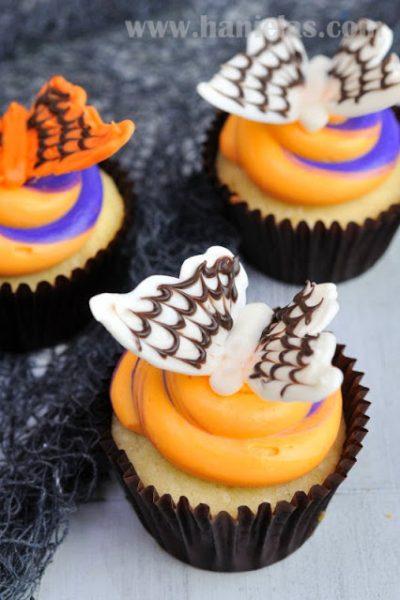 Spiderweb Chocolate Butterflies For Halloween