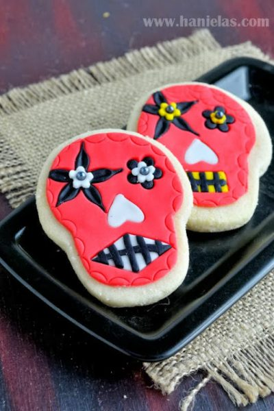 Fondant Inlay on Cookies, Day of the Dead Cookies