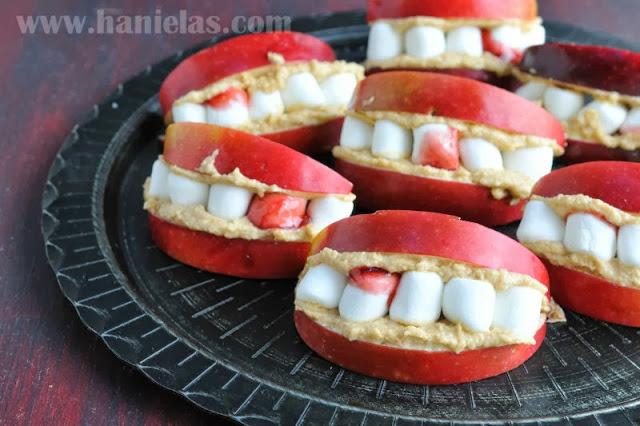 Dracula Apple Teeth for Halloween
