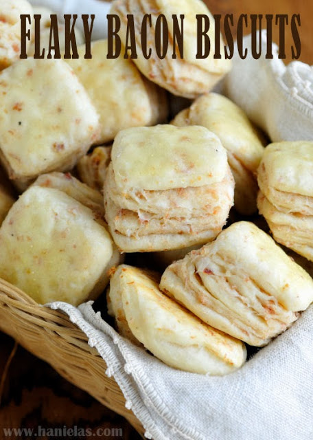 Flaky Bacon Biscuits