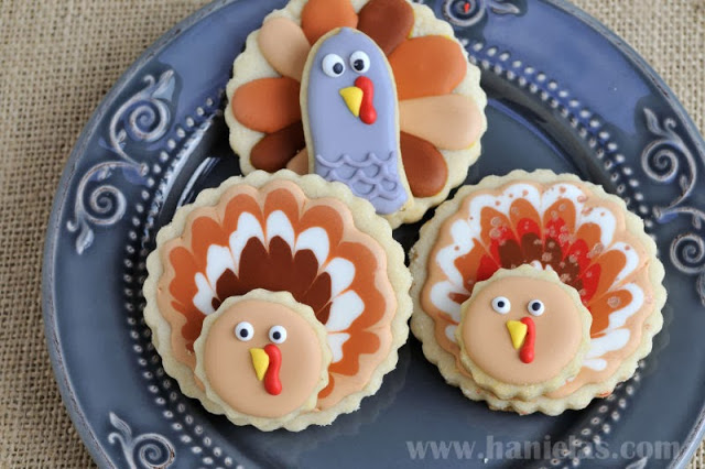 Easy Decorated Turkey Cookies