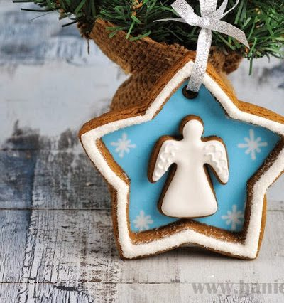 Angel Cookie Decorations, Gingerbread  Blog Hop and Givewaway