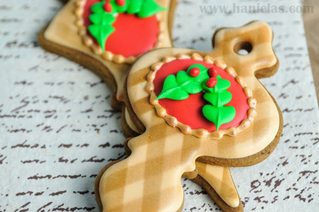 Gingham Christmas Cookie Ornaments