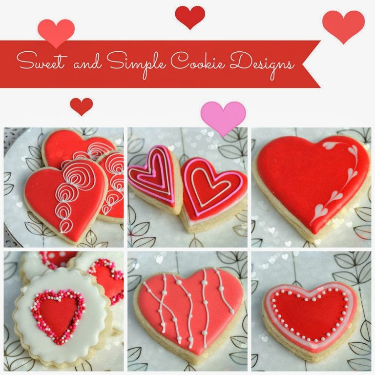 Simple Decorated Valentine's Day Cookies
