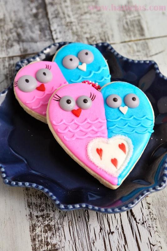 Valentine's Day Owl Cookies
