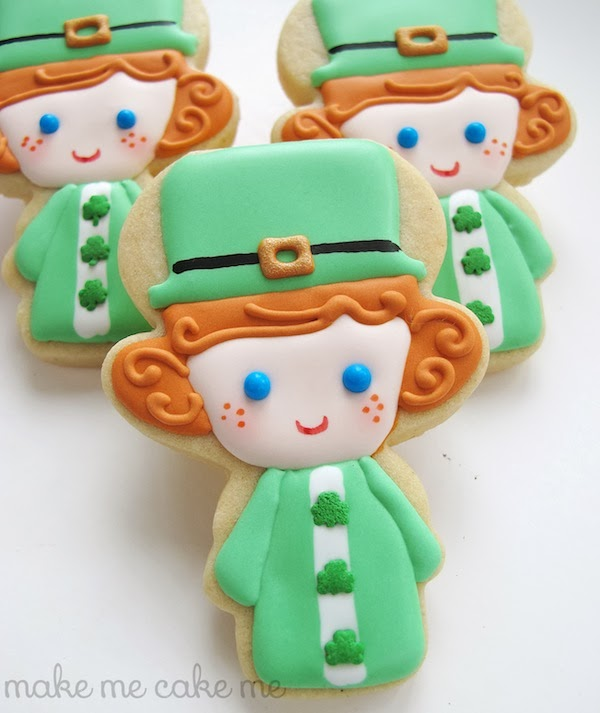 The Leprechaun Girl Cookies by Michelle from Make Me Cake Me
