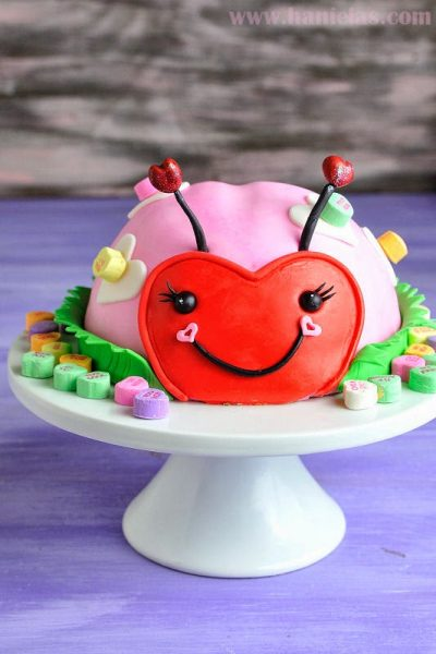 Cutest Ladybug Cake for Valentine's Day