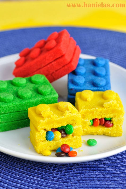 Lego Bricks Pinata Cookies
