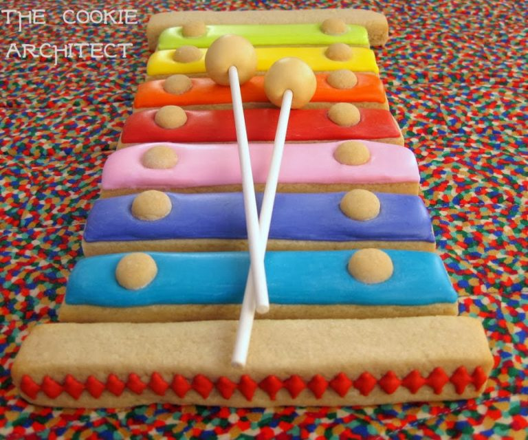 3D Xylophone Cookie by The Cookie Architect