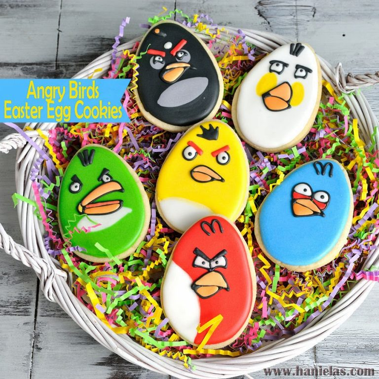 Angry Birds Easter Eggs Cookies