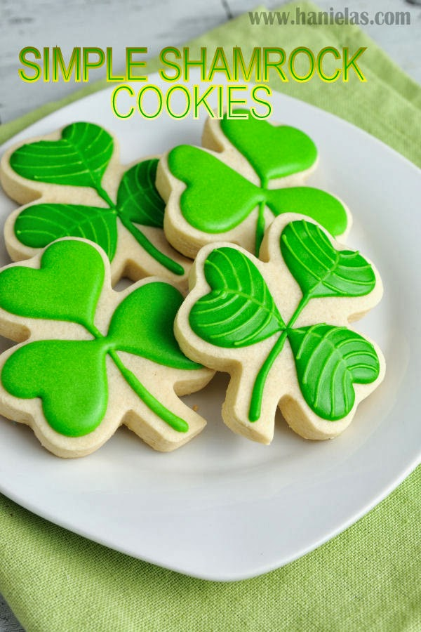 Simple Shamrock Cookies for Saint Patrick's Day