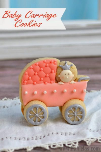 3D  Baby Carriage Cookies