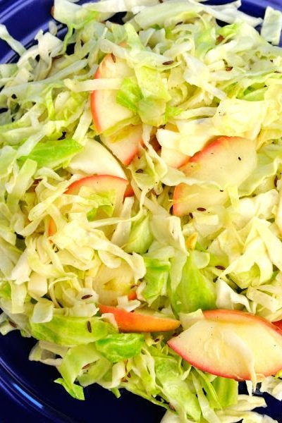 Warm Cabbage and Apple Salad
