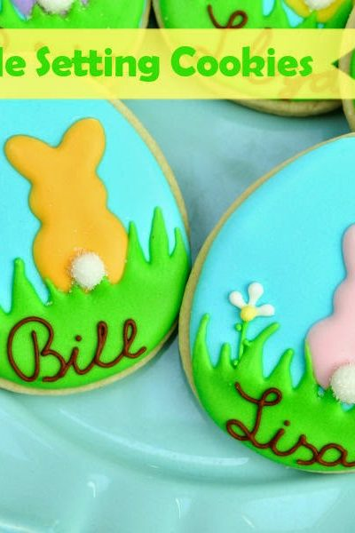 Pretty Table Setting Cookies For Easter